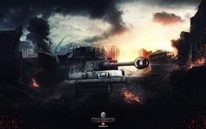 Картинка World of Tanks, Wargaming Net, Tiger I, FuriousGFX