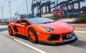 Картинка дорога, движение, тюнинг, Lamborghini, вид спереди, авентадор, Molto Veloce, Aventador LP900-4