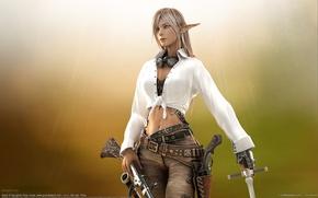 Картинка эльфийка, ружье, Byunghee Choe