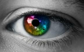 Картинка цвет, Глаз, Космос, Зрачок