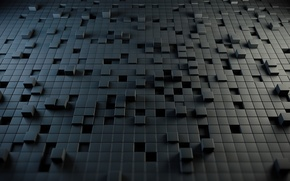 Обои абстракция, стиль, кубы, style, abstraction, cubes, 2560x1600, puzzle, головоломка