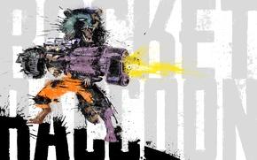Картинка енот, Marvel Comics, rocket, raccoon, Guardians of the Galaxy
