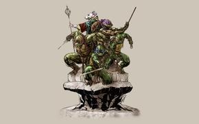 Картинка Рафаэль, TMNT, Raphael, Leonardo, Donatello, Донателло, Леонардо, Splinter, Сплинтер, Микеланджело, Teenage Mutant Ninja Turtles, Michelangelo, ...