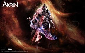 Картинка огонь, меч, templar, NCSOFT, Aion 4.0v