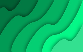 Обои simple, wave, waves, abstract, green