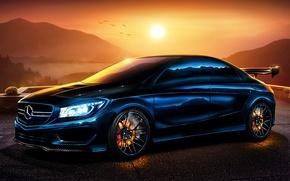 Картинка Mercedes-Benz, Мерседес, Carbon, Sun, Tuning, 2013, Brake, Бенц, CLA