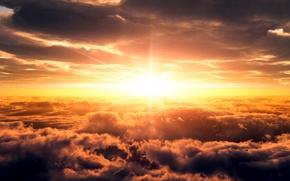 Обои небо, солнце, восход