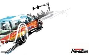 Обои car, авто, Burnout, Paradise, рисунок