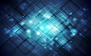 Картинка light, pattern, brightness, squares, dea blue tones