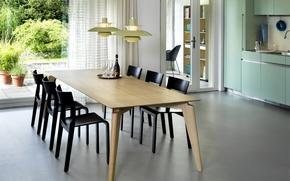 Картинка дизайн, дом, стиль, комната, интерьер, кухня, столовая