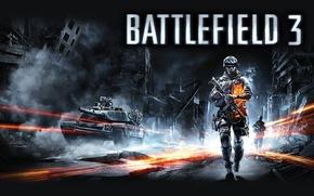 Картинка Солдат, Боец, Танк, Battlefield 3, Поле Сражений