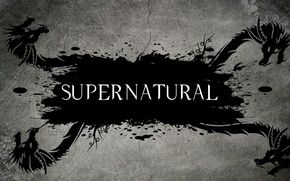 Обои драконы, сверхъестественное, Dragon, телесериал, Supernatural, надпись