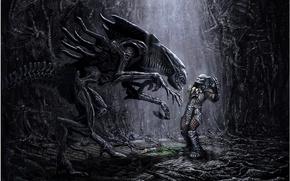 Картинка жертва, монстр, Чужой, пасть, ловушка, ужас, alien, слюни, оторванная рука