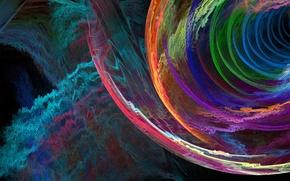Обои свет, цвет, спираль, узор, фрактал