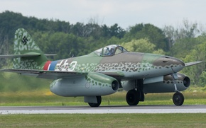 Картинка истребитель, бомбардировщик, реактивный, Me.262, Мессерщмитт