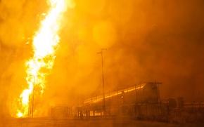 Картинка авария, взрыв, Ракета, NASA, цистерна