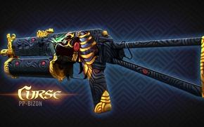 Картинка фараон, раскрас, workshop, cs go, presentation, curse, custom paint job, pp-bizon