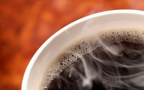 Обои бодрость, пузырьки, черный, кофе, горячий