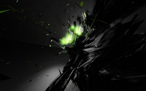 Обои свет, взрыв, черный