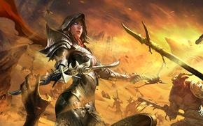 Картинка diablo 3, арбалет, demon hunter, crossbow