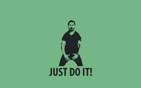 Картинка Шайа ЛаБаф, мотивация, JUSTDOIT!, джастдуит