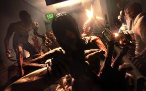 Картинка автомат, зомби, Left 4 Dead, Alma, Louis, F.E.A.R