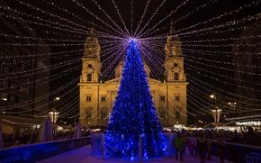 Картинка Budapest, Christmas fair, Basilica