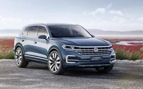 Обои GTE, Concept, концепт, Volkswagen, T-Prime, фольксваген, кроссовер