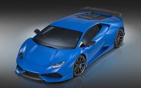Картинка Lamborghini, синяя, ламборгини, Novitec Torado, Huracan, хуракан