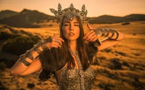 Картинка девушка, украшения, стиль, настроение, корона, Andrea Lynch