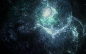 Картинка сияние, тьма, свечение, Космос, созвездие