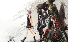 Картинка аниме, GUILTY CROWN, Корона, Yuzuriha Inori, Shinomiya Ayase, вины, Tsutsugami Gai, Ouma Shu