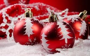 Картинка шарики, праздник, новый год, декорации, happy new year, christmas decoration, новогодние обои, christmas color