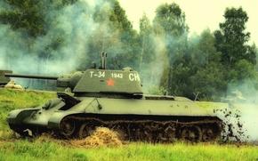 Картинка танк, РККА, средний, Т-34-76, постановка боя