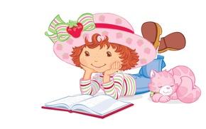 Картинка детство, котик, вектор, мальчик, арт, книга, детская