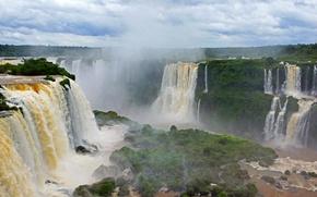 Картинка природа, фото, водопады, Бразилия, Iguazu