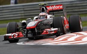 Обои McLaren, поворот, 2011, Jenson Button, гран-при Венгрии
