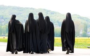 Картинка group, black clothes, nuns