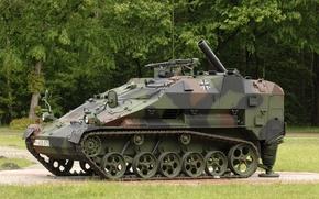 Картинка машина, боевая, германская, бронетранспортёр, лёгкая, wiesel 2, гусеничная, авиадесантируемая, «Визель-2», самоходный миномёт
