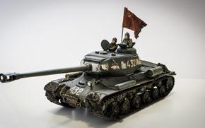 Обои тяжёлый танк, моделька, ИС-2, игрушка