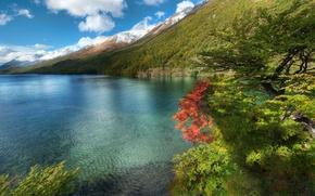 Обои гора, море, вода, океан, пейзажи