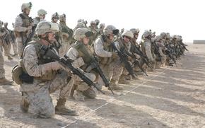 Обои оружие, американские военные, us marines