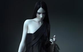 Картинка девушка, черное
