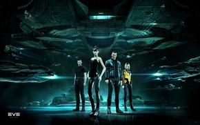 Картинка космос, space, Gallente, EVE online, CCP Games, New Eden