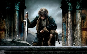 Обои Martin Freeman, Мартин Фриман, Bilbo Baggins, The Hobbit: The Battle of the Five Armies, Хоббит: ...