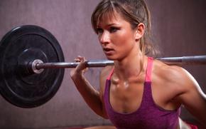 Картинка female, workout, fitness, perspiration, crosfit