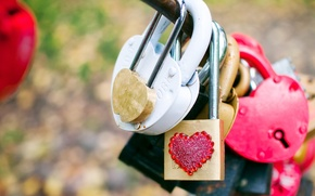 Обои макро, любовь, замок, настроения, сердце, замки