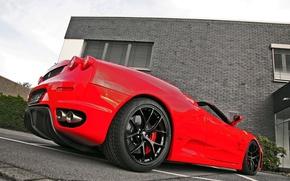Картинка красный, тюнинг, Ferrari