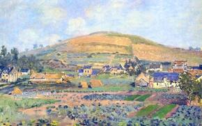 Обои пейзаж, картина, Клод Моне, Гора Рибуде в Руане. Весна