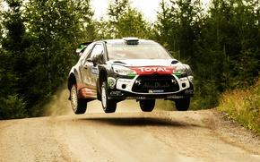 Картинка Прыжок, Citroen, DS3, WRC, Rally, Ралли, Finland